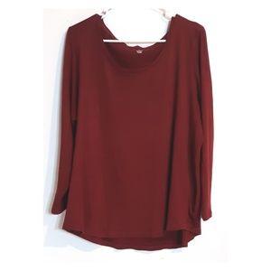 Massini red longsleeve cotton sweater